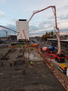 Truckmixers en betonpomp